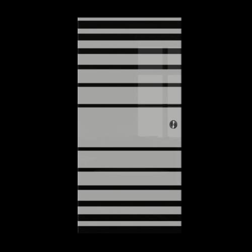 Galakor-Drzwi-Chowane-w-ściane-w-kasecie-szklane-czerwone-geo-pasy-różne-wzory-rozwiązanie-do-małej-przestrzeni (4)-min