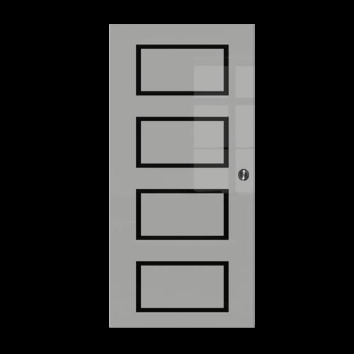 Galakor-Drzwi-Chowane-w-ściane-w-kasecie-szklane-czerwone-geo-pasy-różne-wzory-rozwiązanie-do-małej-przestrzeni (7)-min