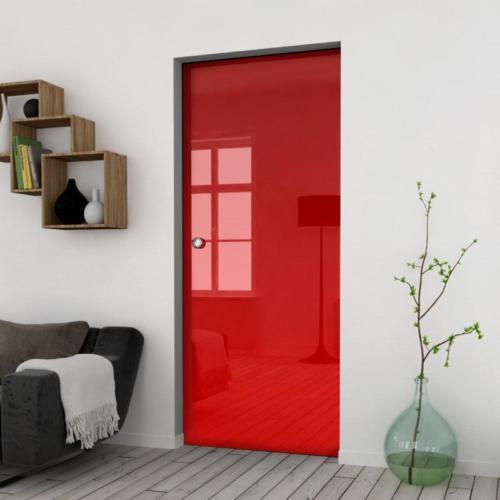 Galakor-Drzwi-Chowane-w-ściane-w-kasecie-szklane-czerwone-geo-pasy-różne-wzory-rozwiązanie-do-małej-przestrzeni (8)-min
