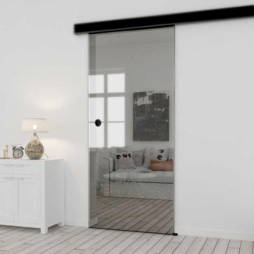 Galakor-drzwi-naścienne-przesuwne-Czarne-wykończenie-czarna-maskownica-loft-czarne-okucie-lustro-szkło-geo-satyna-przeźroczyste-białe-czarne-pasy-wzory-wzór(4) optimized