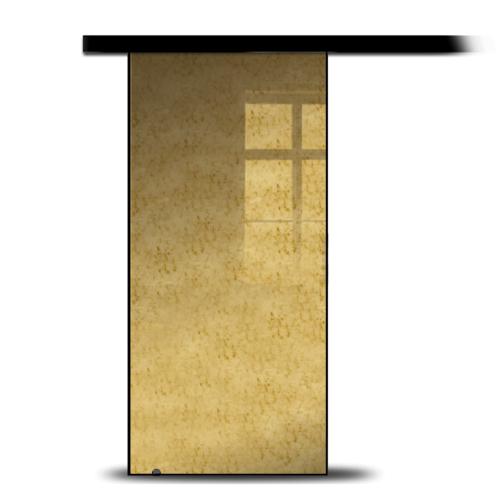 Galakor-Drzwi-Na-Płycie-Lustro-Antyczne-Złote-Drzwi-Przesuwne-Naścienne-Czarne-Wykończenie-Czarne-Obicie (1) (1)