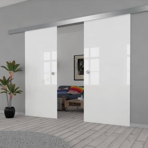 Galakor-drzwi-podwójne-naścienne-przesuwne-lustro-szkło-geo-satyna-przeźroczyste-białe-czarne-pasy-wzory-wzór (1)-min