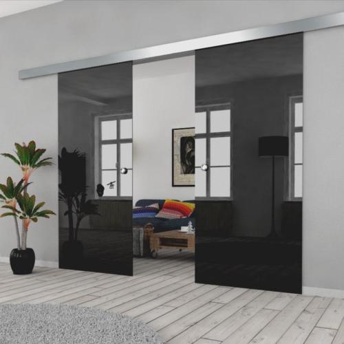 Galakor-drzwi-podwójne-naścienne-przesuwne-lustro-szkło-geo-satyna-przeźroczyste-białe-czarne-pasy-wzory-wzór (2)-min