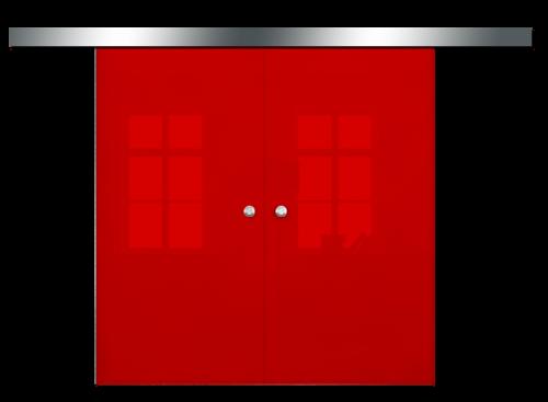 Galakor-drzwi-podwójne-naścienne-przesuwne-lustro-szkło-geo-satyna-przeźroczyste-białe-czarne-pasy-wzory-wzór (3)-min