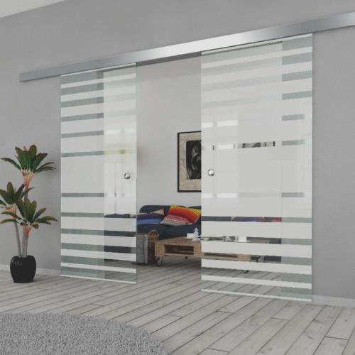 Galakor-drzwi-podwójne-naścienne-przesuwne-lustro-szkło-geo-satyna-przeźroczyste-białe-czarne-pasy-wzory-wzór (4)-min