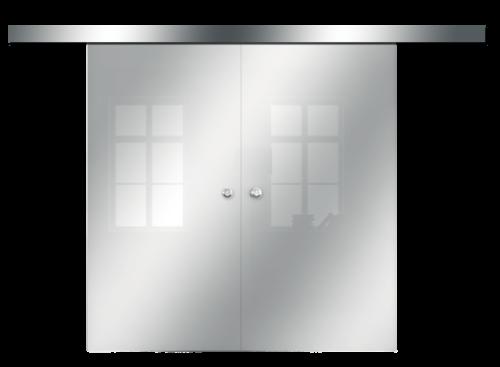 Galakor-drzwi-podwójne-naścienne-przesuwne-lustro-szkło-geo-satyna-przeźroczyste-białe-czarne-pasy-wzory-wzór (8)-min