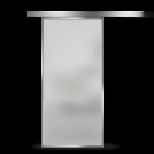Galakor-Drzwi-Srebrna-Rama-Aluminiowa-Szklane-Przesuwne-Naścienne-Loft (6)